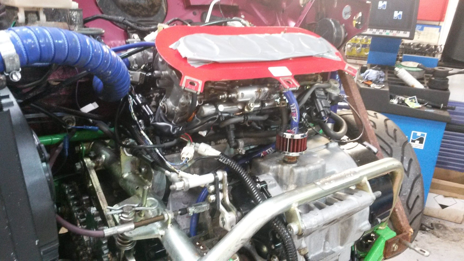 Mini With Yamaha R1 Engine Wiring Loom Work In Progress Perfect Undefined