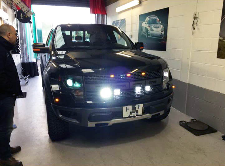 Ford Raptor 4 Wheel Laser Alignment Perfect Touch