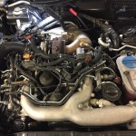 audi a5 dpf removal engine bay picture