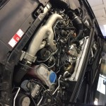 audi a5 engine bay ready for dpf removal