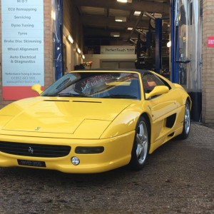 ferrari f355 engine rebuild car cleaned ready to go back to client