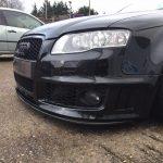 audi rs4 service, inspection and carbon fibre front splitter