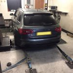audi rs4 fitted with miltek cat back exhaust system upgrade