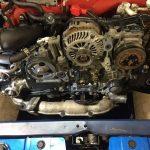 subaru impreza wrx sti hatchback, diagnosing fuel and oil leaks