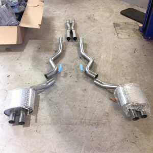 ford mustang miltek exhaust and roush rear valence