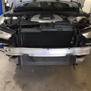 audi a6 wagner tuning front mount intercooler