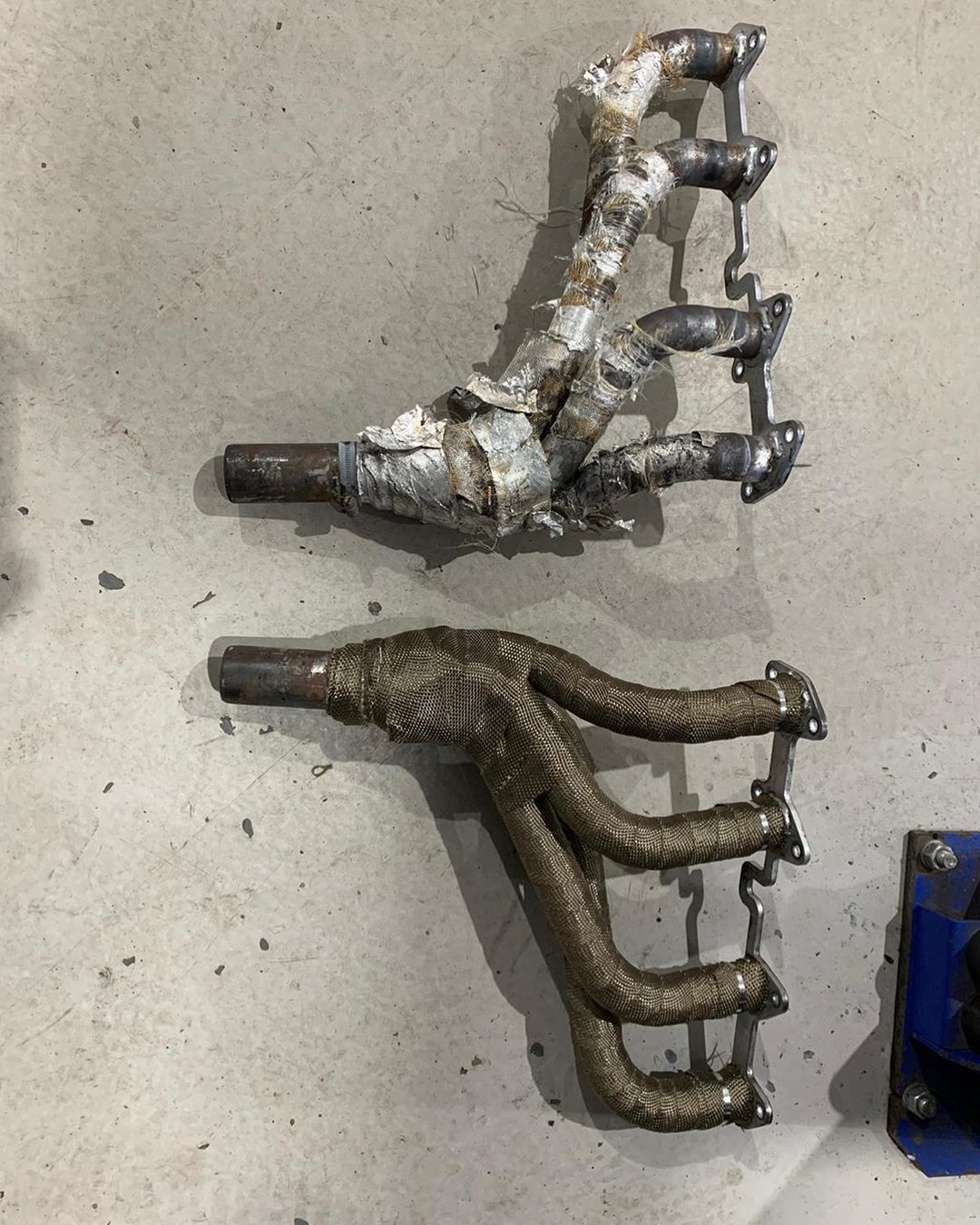 before-after-pilgrim-manifolds-titanium-exhaust-heat-wrap-perfect-touch-performance
